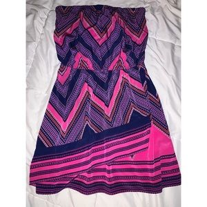 Express strapless dress